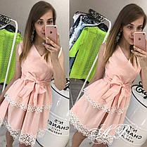 Платье двустороннее с бантом и двойным воланом, фото 3