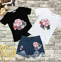 Костюм шорты и футболка коттон рисунок накатка, фото 2