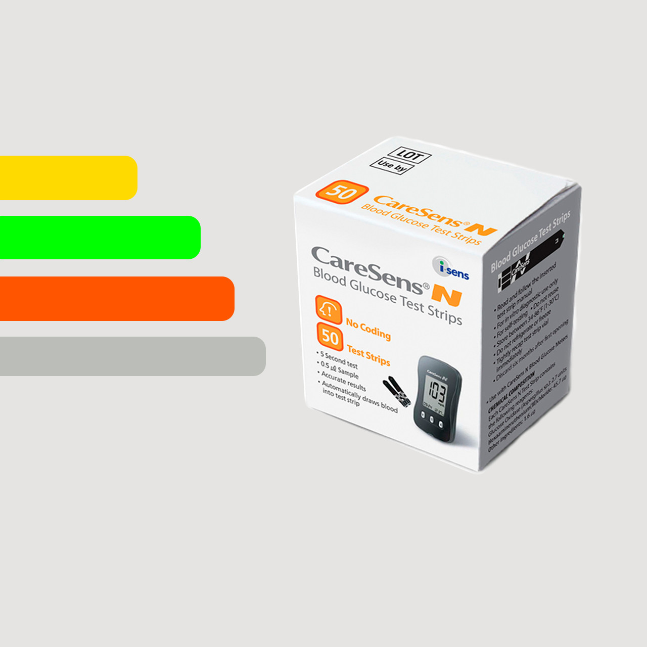 Тест-полоски для глюкометра CareSens N #50 - Кеар Сенс Н