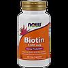 Витаминно-минеральный комплекс NOW Biotin 5.000 мкг (60 капс)