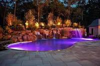 Подсветка 5 в фонтана и бассейна герметичная в комплекте с блоком питания и контроллер 50 ламп 80 см