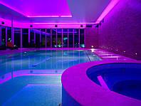 Подсветка разноцветная фонтана и бассейна герметичная в комплекте с блоком питания один метр длинной