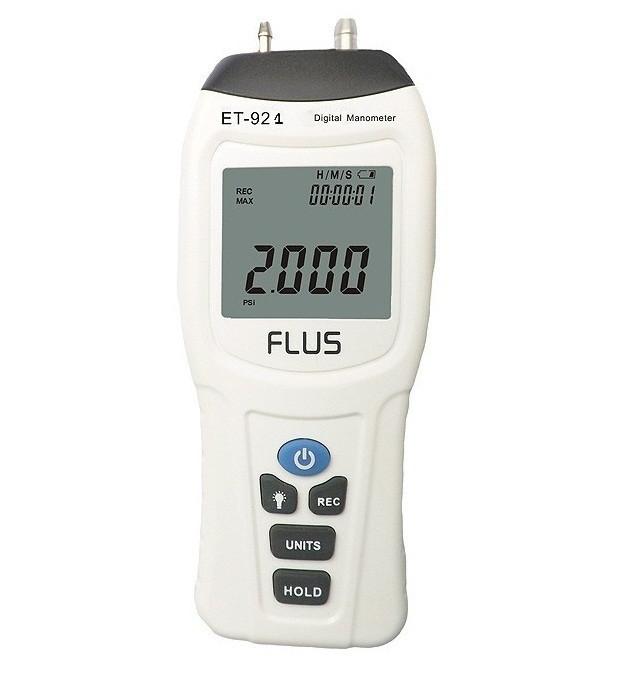 Цифровий диференціальний манометр FLUS ET-921 (0.01/±34.47 кПа) Ціна з ПДВ
