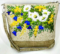 Сумочка с вышивкой лентами Колокольчики, фото 1