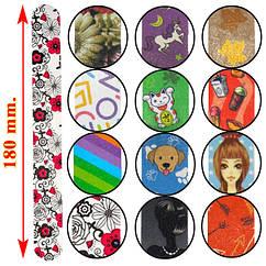 Пилка Бытовая Разноцветная для Натуральных Ногтей 220/240 гритт Упаковкой 50 шт. Расцветки Микс