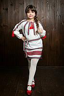 Платье-вышиванка для девочек из домотканой ткани (0306 35) 22c9aa8099182