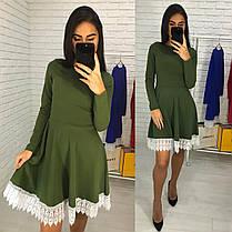 Платье колокольчик с итальянскимнабивным кружевом, фото 3