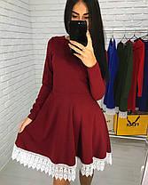 Платье колокольчик с итальянскимнабивным кружевом, фото 2