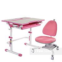 Комплект растущая парта Lavoro L Pink + детское ортопедическое кресло SST4 Pink FunDesk