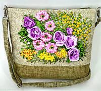 Сумочка с вышивкой лентами Розы с мимозой, фото 1