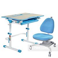Комплект растущая парта Lavoro L Blue + детское ортопедическое кресло SST4 Blue FunDesk