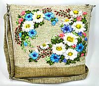 Сумочка с вышивкой лентами Ромашковый венок, фото 1