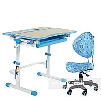 Комплект растущая парта Lavoro L Blue + детское ортопедическое кресло SST5 Blue FunDesk