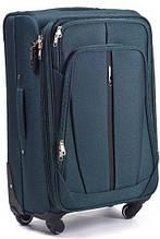 Тканевый чемодан 110 л на колесах Vt00106, зеленый