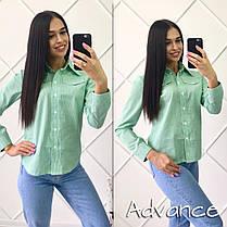 Рубашкана пуговицах  с нашивкам и карманами , фото 2