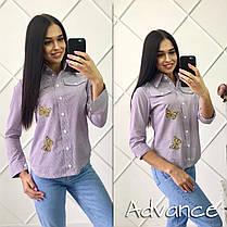 Рубашкана пуговицах  с нашивкам и карманами , фото 3
