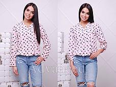Рубашкабез воротника на пуговицах с резинкой, фото 3