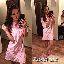 Платье рубашка с отложным воротником на пуговицах, фото 2
