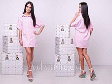 Платье рубашка с отложным воротником на пуговицах, фото 3