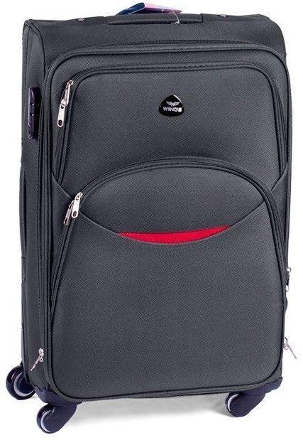 Тканевый чемодан 110 л на колесах Vt00082, серый