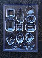 Молд для одновременной заливки 12 украшений, небольшой размер. Для смолы и полимерной глины