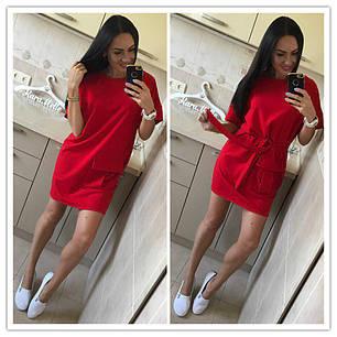 Платье свободное с большим карманом под пояс, фото 2