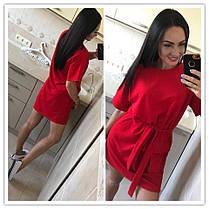 Платье свободное с большим карманом под пояс, фото 3