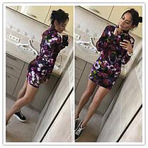 Платье в обтяжку с рукавом минив цветок, фото 2