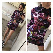 Платье в обтяжку с рукавом минив цветок, фото 3