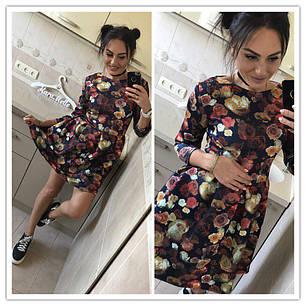 Платье колокольчик с цветочным принтом, фото 2