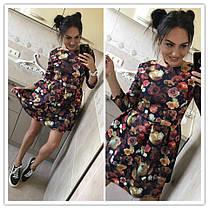 Платье колокольчик с цветочным принтом, фото 3