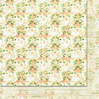 Двусторонний лист скрапбумаги от WoodChic - Яблуневий цвіт - 4, 30,5x30,5 см, 1 шт