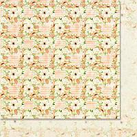 Двусторонний лист скрапбумаги от WoodChic - Яблуневий цвіт - 1, 30,5x30,5 см, 1 шт