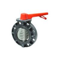 Дисковый затвор  PVC/PVC/EPDM DN100 (d.110 mm)  с механическим управлением