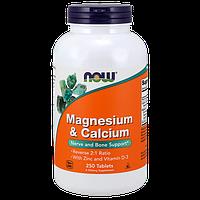 Витаминно-минеральный комплекс NOW Magnesium & Calcium (250 таб)