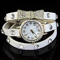 Наручные часы с длинным ремешком бантик/белые