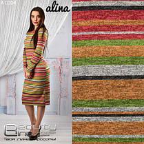 Платье теплое в цветную полоску  ангора, фото 3