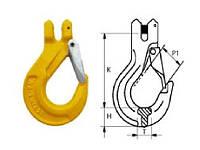 Крюк чалочный с вилочным сопряжением тип G80 2,0тн