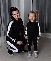 Однакові спортивні костюми мама і дитина