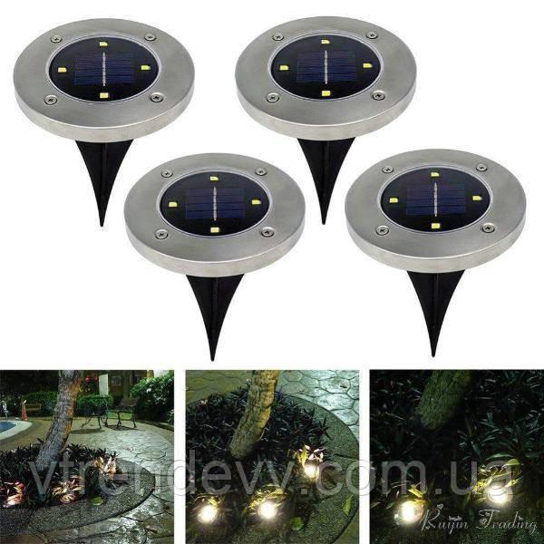 Уличный садовый светильник на солнечной батарее Disk Lights 1998 Fel 4 шт комплект