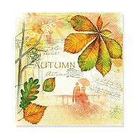 Салфетка для декупажа — Autumn, размер в развёрнутом виде 33x33 см, Германия