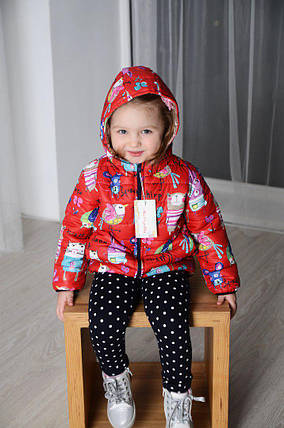 Детская куртка из плащевки лаке на двойном синтепоне, фото 2
