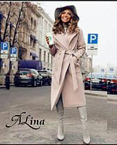 Пальто классика споясом и карманами кашемир, фото 3