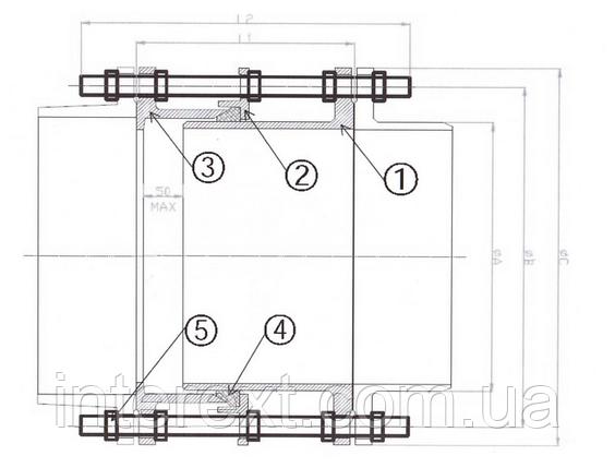 Вставка монтажная фланцевая Ду80 Ру10, фото 2