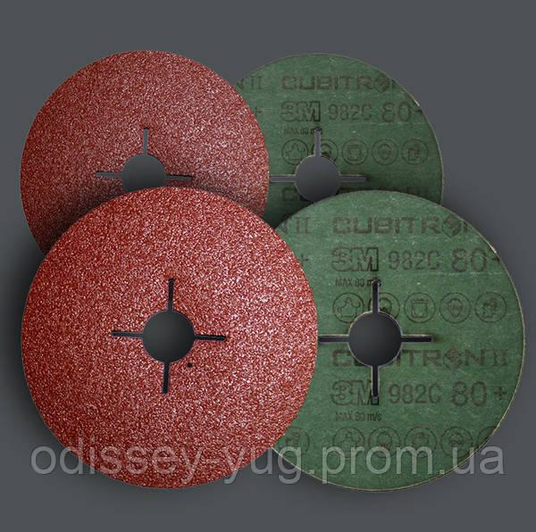 Круги 3M™ 982С  Р80 (125 мм. х 22 мм.) ,на фибровой основе с абразивным минералом Сubitron II  27628