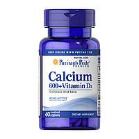 Puritan's Pride, Calcium Vitamin D3 - 60 таб.