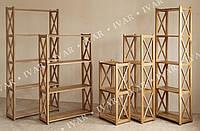 Деревянные стеллажи ШАРМ из массива дуба 470*800*290мм 2 полки