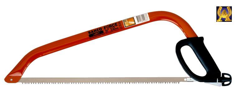 Лучковая пила 530 мм для старой и сухой древесины, Bahco 332-21-51