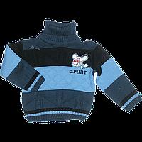Детский свитер под горло, 70 % акрил, 30% шерсть, Турция, р.80