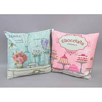 """Подушка декоративная для оформления интерьера """"Provence Style"""" AM324, сменный чехол, 42х42 см, 6 видов, подушка для декора, подушка маленькая"""